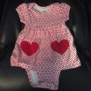 Adorable infant hearts dress